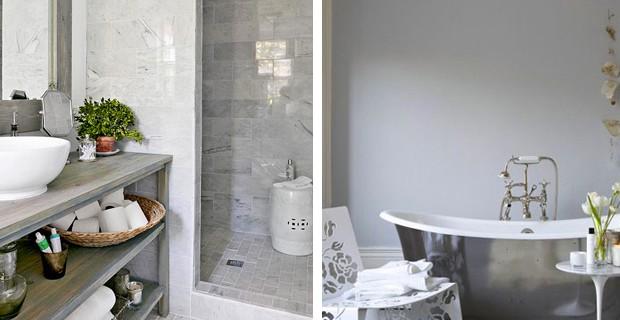 Salle de bain grise idee deco en gris et blanc 21364 for Idee salle de bain grise