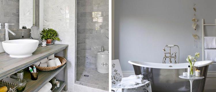 d coration salle de bain gris. Black Bedroom Furniture Sets. Home Design Ideas