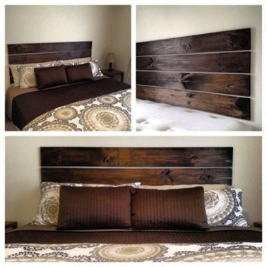 faire une t te de lit en bois avec planches pin teinte wenge. Black Bedroom Furniture Sets. Home Design Ideas