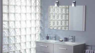 briques de verre pour separer espace chambre et salle de bain. Black Bedroom Furniture Sets. Home Design Ideas