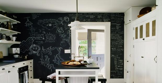 la peinture a tableau fait parler les murs de la cuisine d co cool. Black Bedroom Furniture Sets. Home Design Ideas