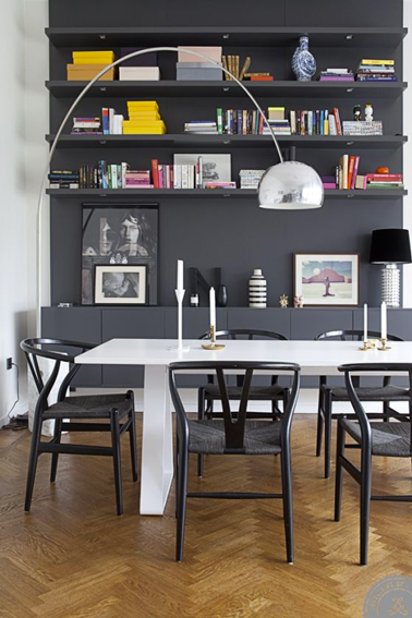 deco salle a manger couleur gris anthracite. Black Bedroom Furniture Sets. Home Design Ideas