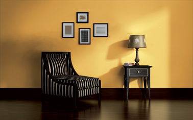 d co salon couleur peinture tendance jaune et noir. Black Bedroom Furniture Sets. Home Design Ideas