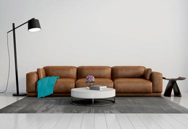 Des couleurs naturelles mises en valeur par des touches de fushia ou de turquoise pour la déco d'un salon ambiance retro. Une ambiance couleur créée par Aurélie Hémar