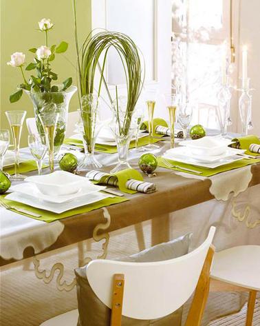 Decoration De Noel Vert Et Blanc