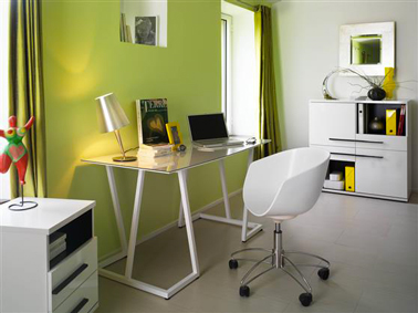 decoration bureau couleur vert pistache et blanc peinturetollens. Black Bedroom Furniture Sets. Home Design Ideas