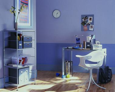 decoration espace de travail nuances de violet. Black Bedroom Furniture Sets. Home Design Ideas