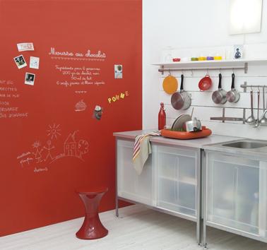 La peinture tableau noir fait parler les murs de la cuisine - Peinture design sur mur ...