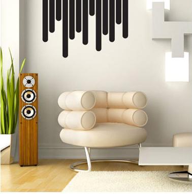 Sticker pour la décoration murale d'un salon design de la collection psyché chez Méchant Vynil