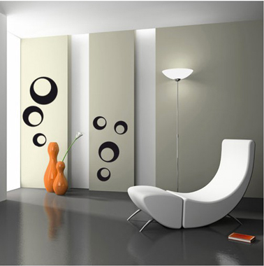 6 stickers po tiques pour la d co murale du salon d co. Black Bedroom Furniture Sets. Home Design Ideas