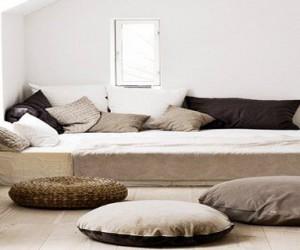 Couleur lin peinture salon chambre cuisine salle de bain - Idee deco chambre zen ...