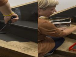 Peindre un escalier en bois avec la peinture r novation v33 d co cool for Peinture escalier vitrifie