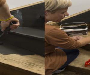 Peinture pour sol carrelage parquet et sol de garage for Peindre un sol en bois
