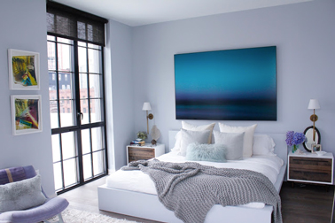 10 chambres zen pour bien dormir deco cool - Chambre couleur bleu et gris ...