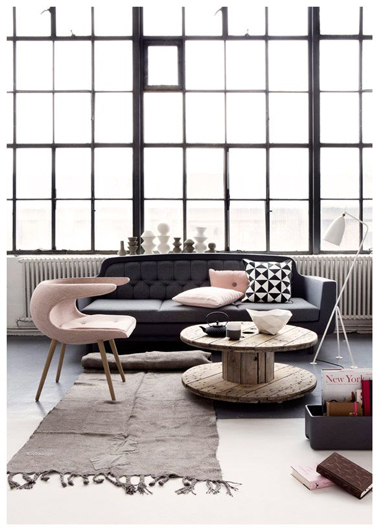 D co salon gris id es couleur et photo pour s 39 inspirer for Deco gris et rose
