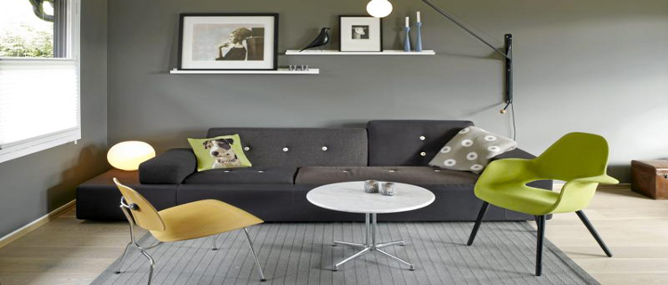 D co salon gris id es couleur et photo pour s 39 inspirer for Deco meuble salon