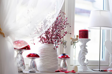 D coration de no l rouge et blanc faire soi m me - Decoration sapin de noel rouge et blanc ...
