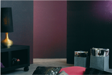 peinture paillet e sur mur salon avec gel cosmic. Black Bedroom Furniture Sets. Home Design Ideas