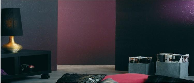 Peinture a l 39 essuy un effet douceur sur les murs - Deco peinture pailletee ...