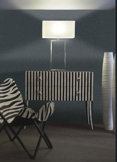 Mur du salon lumineux avec une peinture paillet e - Deco peinture pailletee ...