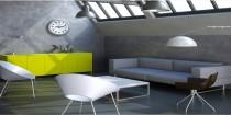 peinture effet beton, effet cuir, idee deco