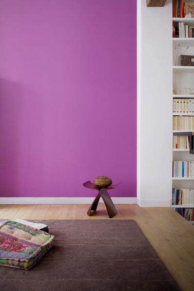 Salon peinture violet radian orchid pantone de tollens for Peinture salon maroc violet