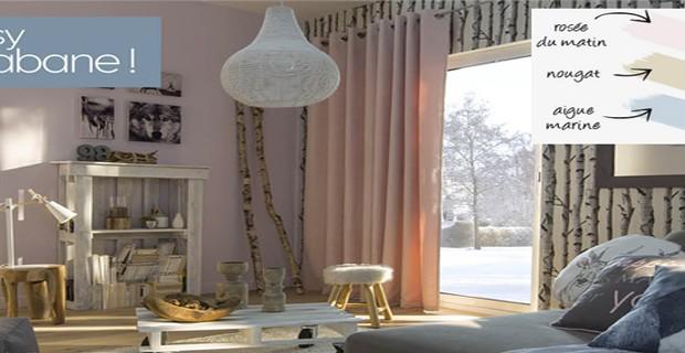 D co salon le nouveau carnet de style de castorama - Simulation papier peint salon ...