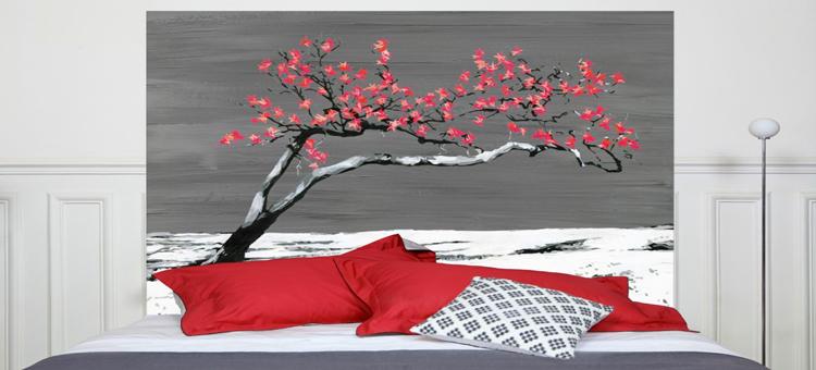 Exemple tete de lit papier peint - Faire sa tete de lit ...