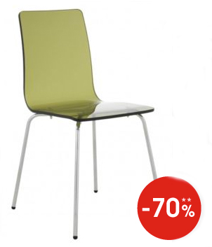 Chaise transparente fume fly for Chaise transparente fly