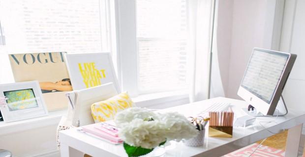 idees deco pour amenager un bureau sympa la maison d co cool. Black Bedroom Furniture Sets. Home Design Ideas