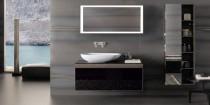idée decoration de salle de bain noir et blanc