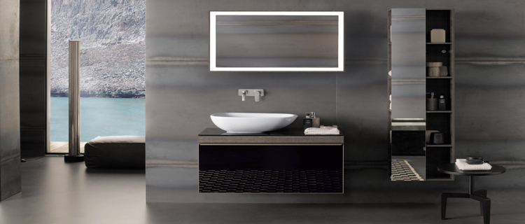 la salle de bain rouge donne des id es au gris et noir. Black Bedroom Furniture Sets. Home Design Ideas
