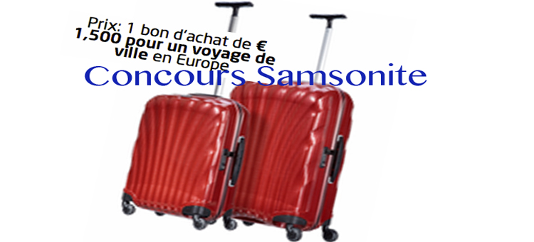 jeu coucours design my Samsonite 2014