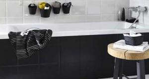 Peinture salle de bain couleur violet carrelage m tro for Carrelage mural salle de bain violet