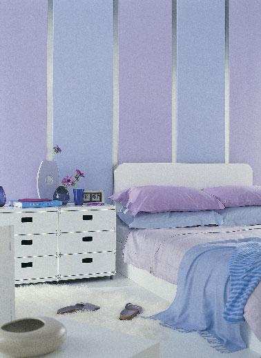 teintes pastel en camieux pour la peinture chambre. Black Bedroom Furniture Sets. Home Design Ideas