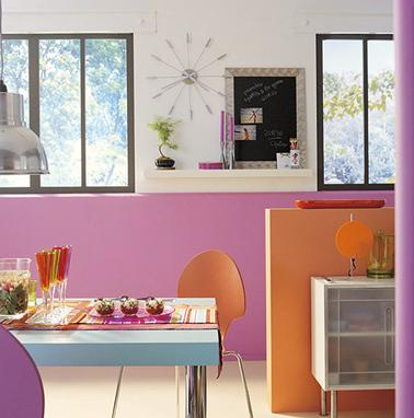 11 couleurs cuisine avec une peinture murale tendance for Cuisine peinture orange