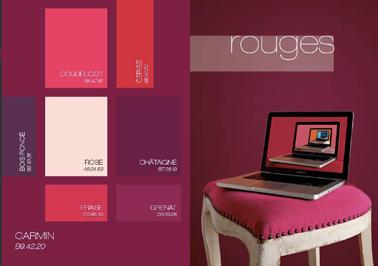 Peinture salon rouge palette couleur tendance astral - Association couleur rouge ...