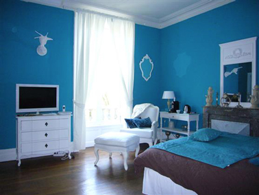 d coration chambre bleu turquoise et marron. Black Bedroom Furniture Sets. Home Design Ideas