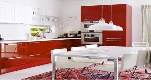 Peinture cuisine couleur et id e peinture pour cuisine - Idee deco cuisine rouge ...