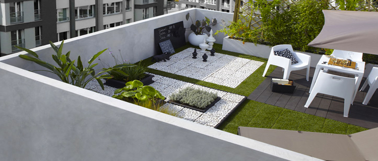 Terrasse jardin idee for Decoration jardin terrasse