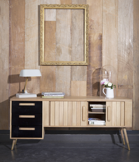 meuble tv vintage en chene mr marius. Black Bedroom Furniture Sets. Home Design Ideas