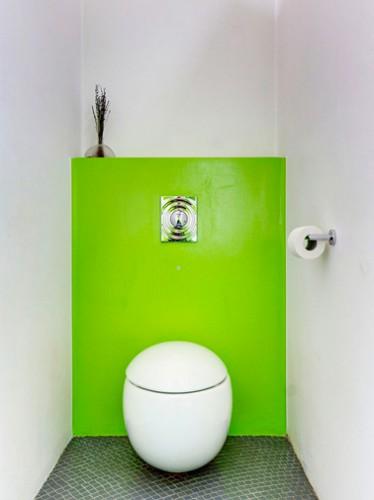 Peinture wc id es couleur pour des wc top d co - Idee couleur toilette ...