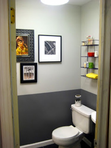 Peinture wc id es couleur pour des wc top d co for Peindre toilettes deux couleurs