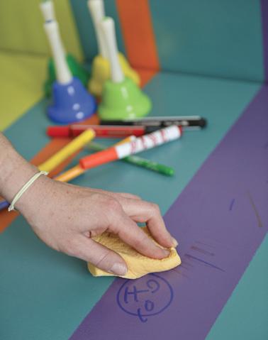 Pour retirer les taches, même celles de feutre, sur le meuble peint, rien de plus simple grâce au vernis de protection incorporé dans la peinture pour meuble Vernis Relooking V33