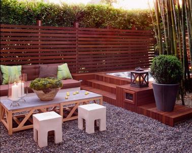 Terrasse zen id es et photos pour une terrasse sympa - Claustra en bois leroy merlin ...