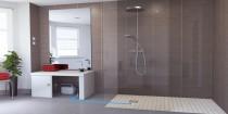 installer douche italienne avec système pompe évacution Sanifloor SAF spécial douche à l'italienne
