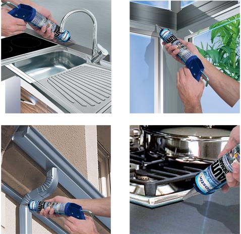 Joint d'étanchéité métal pour fixer et jointer éléments de cuisine inox et protéger matériaux à l'extérieur