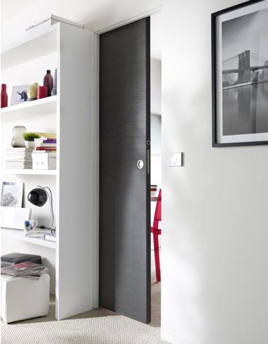 Porte coulissante interieur castorama porte coulissante for Porte interieur gris anthracite