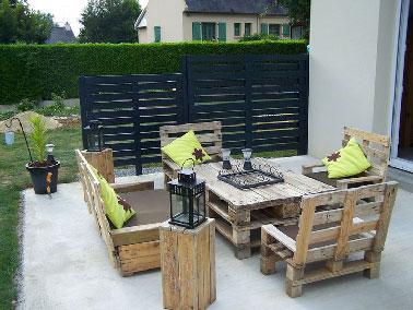 Energ\'& Sens: Salon de jardin en palettes