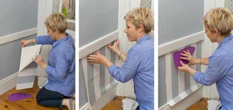 faire un soubassement avec du papier peint c 39 est sympa. Black Bedroom Furniture Sets. Home Design Ideas